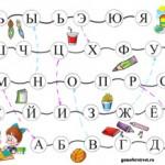 Настольная игра: Изучаем Алфавит