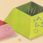 Оригами: коробочка для скрепок