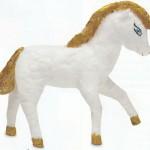 Игрушки из ваты: Лошадка