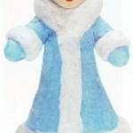 Игрушки из ваты: Снегурочка
