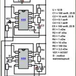 Микроник: полицейская сирена на двух микросхемах 555