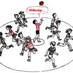 Дворовые игры: Штандер (Зевака, Стоп-мяч)