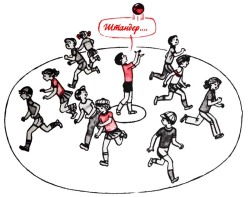 игра стоп-мяч зевака штандер