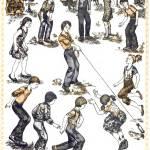 Игра со скалкой: Удочка