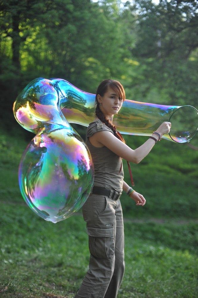 огромные мыльные пузыри сделать самому