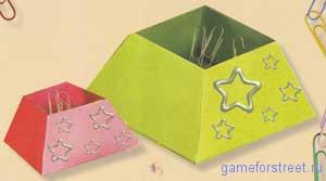 оригами бумажная коробочка