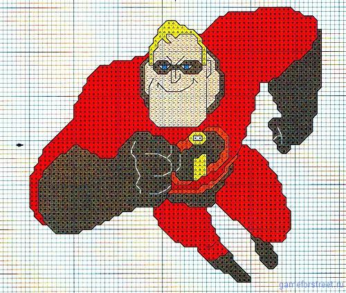 вышивка крестиком суперсемейка
