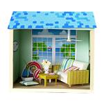 Бумажный домик: домик у пляжа